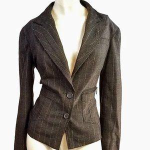 DKNY Jeans gold chalk line jacket blazer M